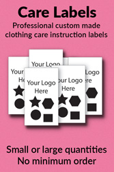 Custom made care labels